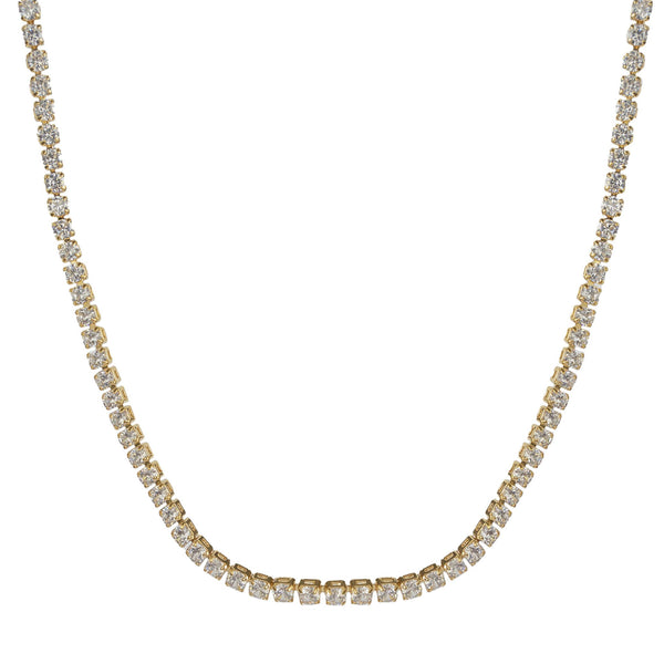 APHRODITE Thin Gold Diamond Choker Necklace