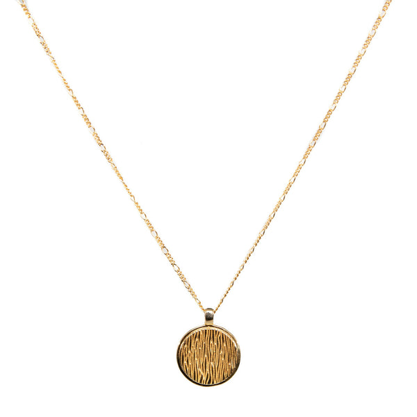 B Coin Necklace
