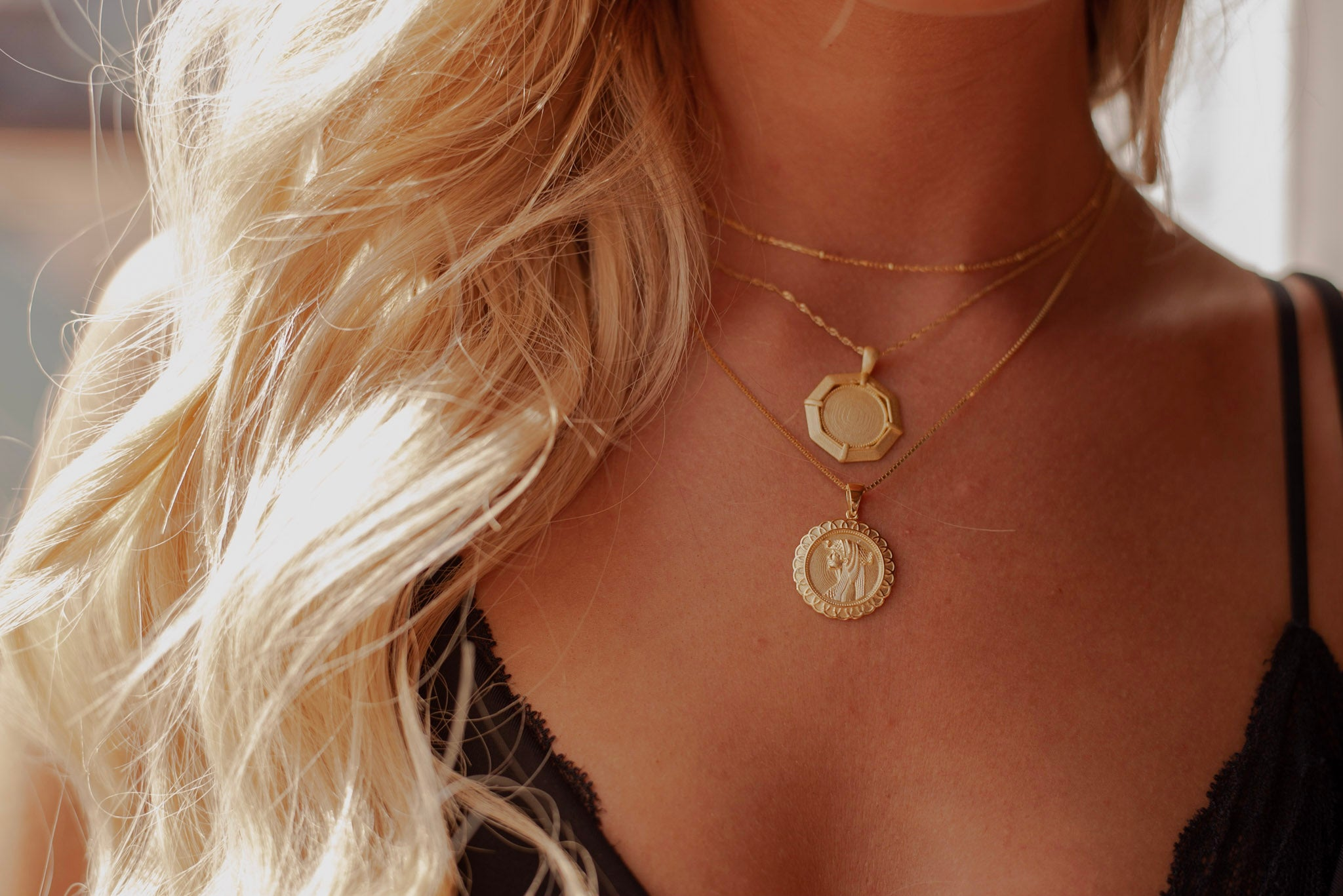 RAYE Coin Necklace - Livie Jewelry