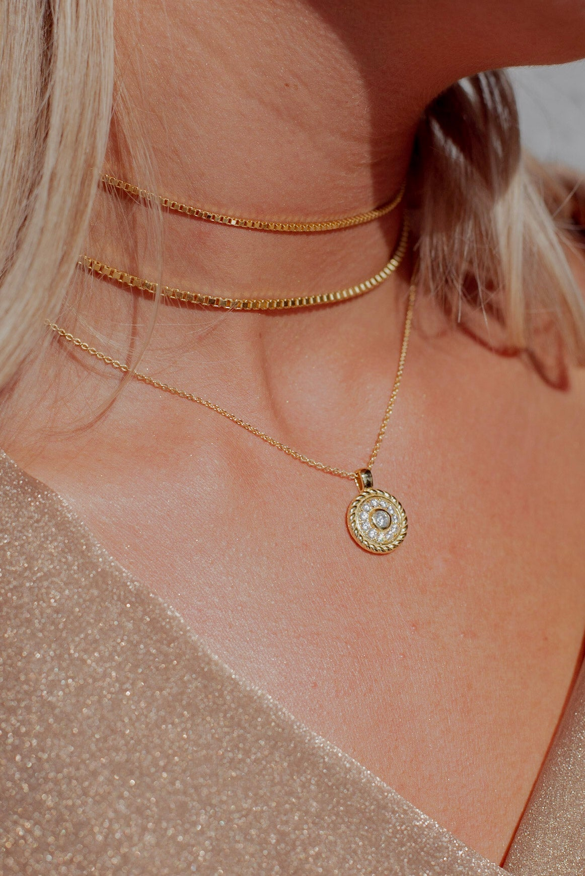 Baby Box Chain Choker - Livie Jewelry