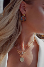 B Coin Necklace - Livie Jewelry