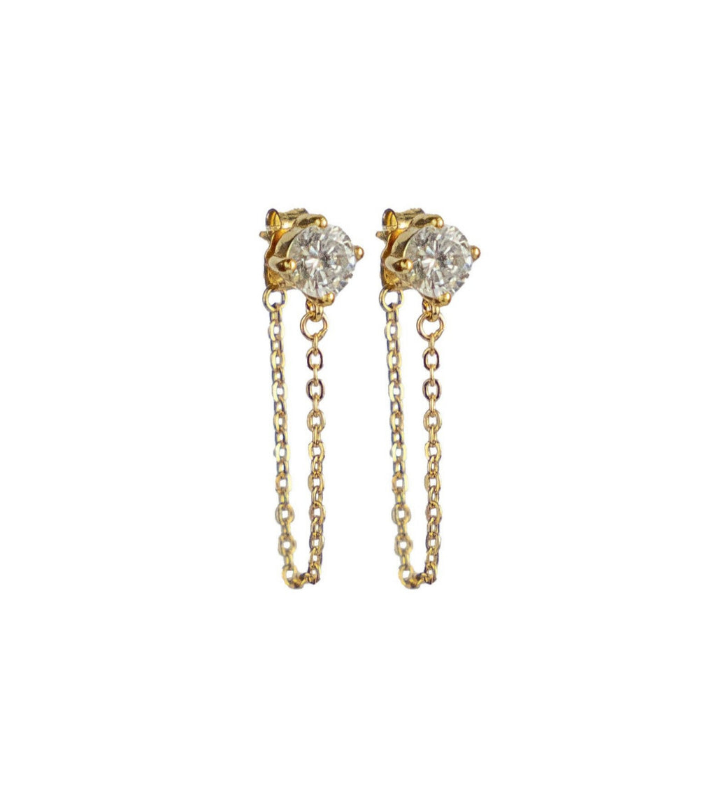 ESME Chain Drop Stud Earrings