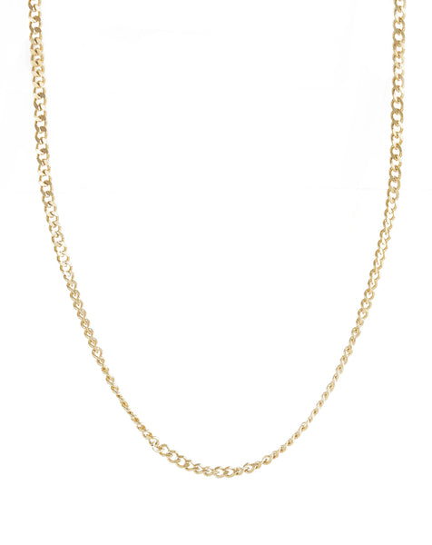 JOVI Thin Curb Chain Necklace