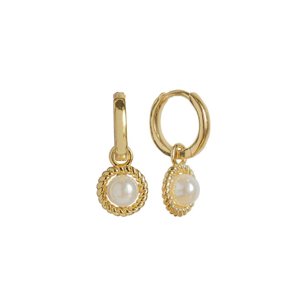 VALENCIA Pearl Hoop Earrings