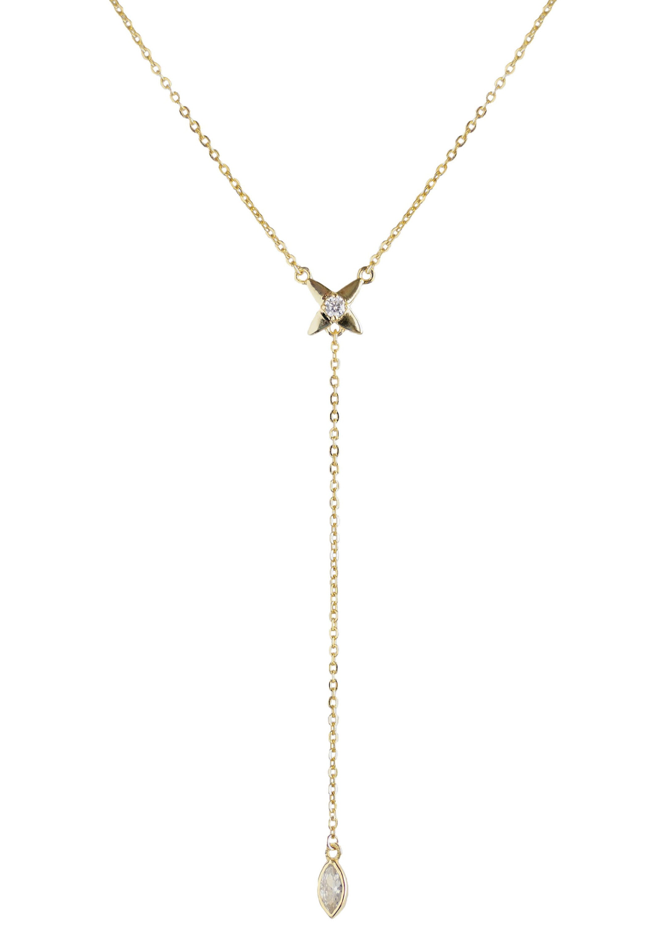 VEE Lariat Necklace