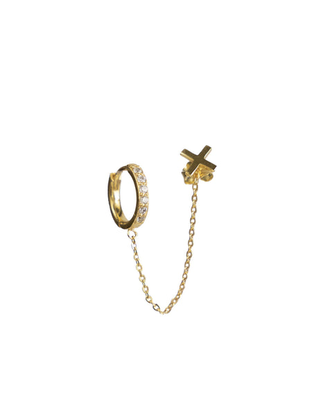 XO Chain Drop Earring