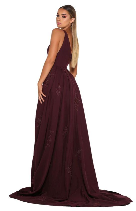 ENDORA GOWN VEE PLUM