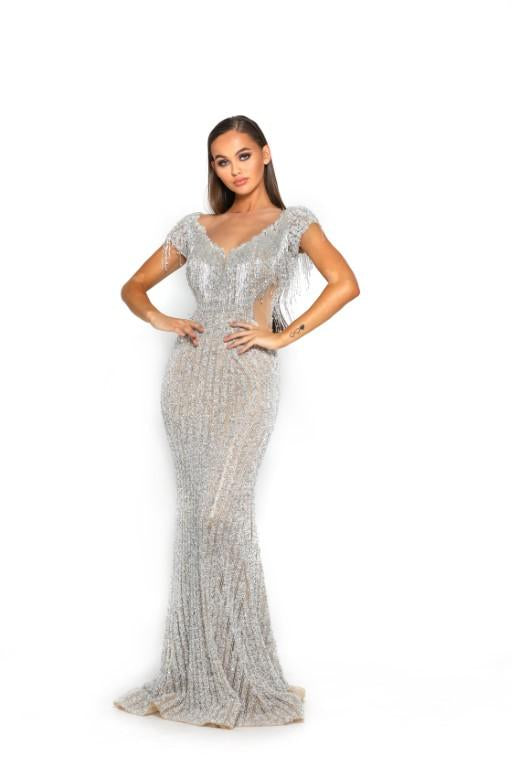 PS3012-SILVER-NUDE-COUTURE-DRESS