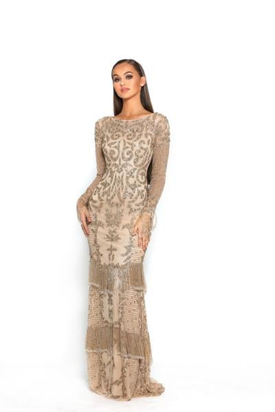 PS3013-BRONZE-NUDE-COUTURE-DRESS