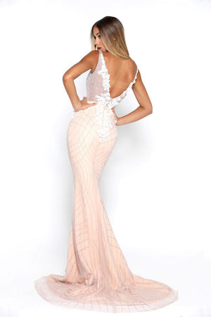 FLORANCE GOWN IVORY NUDE