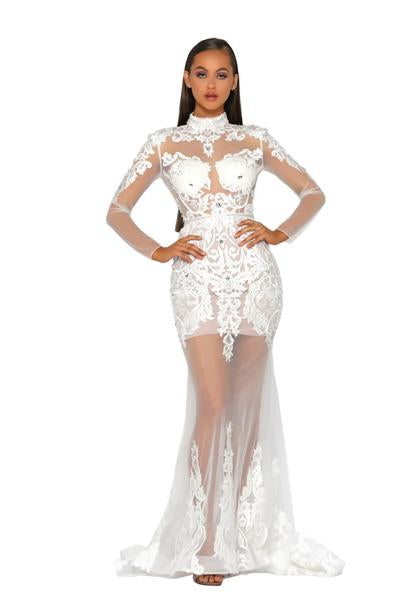 PS5004-GOWN-WHITE