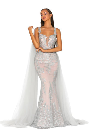 PS5011-GOWN-SILVER-NUDE