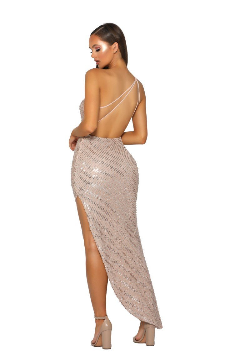 PS5052-GOWN-NUDE-SILVER