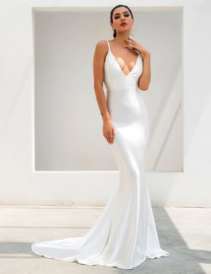 Lady Luxe Gown - White