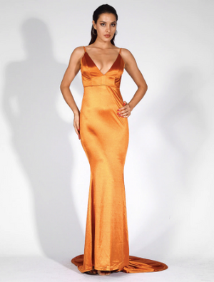 Lady Luxe Gown - Orange