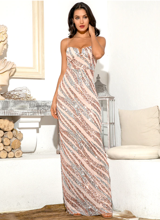 Jasmine Sequin Gown