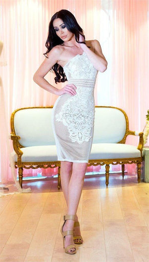 MISHA DRESS WHITE
