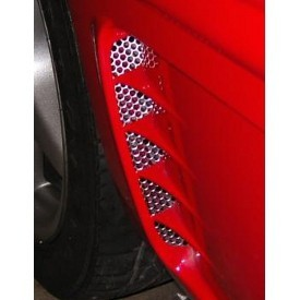 C4 Corvette Side Vents, Perforated, 2Pc, 1995-1996 - [Corvette Store Online]