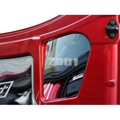 C5 & Z06 Corvette Hood Insert | Upper Right | Polished, Etched Year From 1997-2004 - [Corvette Store Online]