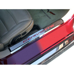 C6 Corvette | Doorsills | Executive Series | Color Carbon Fiber Inlay - [Corvette Store Online]