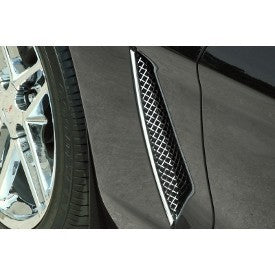 C6 Corvette | Side Vent Grilles | Laser Mesh | 2 pc | Polished - [Corvette Store Online]