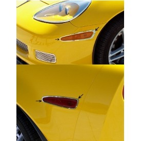 C6 Z06/GS/ZR1 Corvette | Side Marker Light Bezels | 4 pc | Polished - [Corvette Store Online]