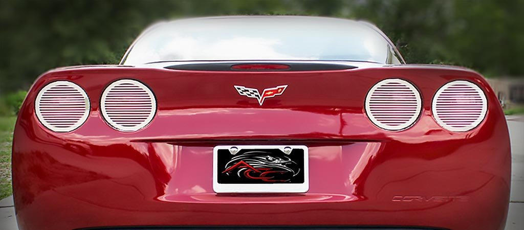 C6 Corvette | Taillight Covers | Billet Style | 4 pc | Polished | 2005-2013 - [Corvette Store Online]