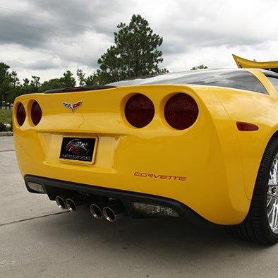 C6 Corvette Tail Light Covers | Vinyl Blackout Kit | 4 pc | 2005-2013 - [Corvette Store Online]
