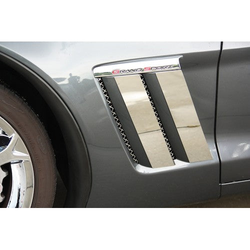 Grand Sport Only Corvette Fender Trim Plates 4Pc Polished 2010-2013 - [Corvette Store Online]