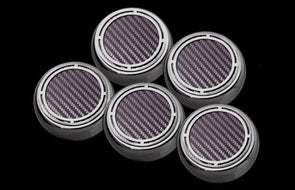 C5/C6 Corvette Engine Fluid Cap Cover 5Pc Slotted Set - [Corvette Store Online]