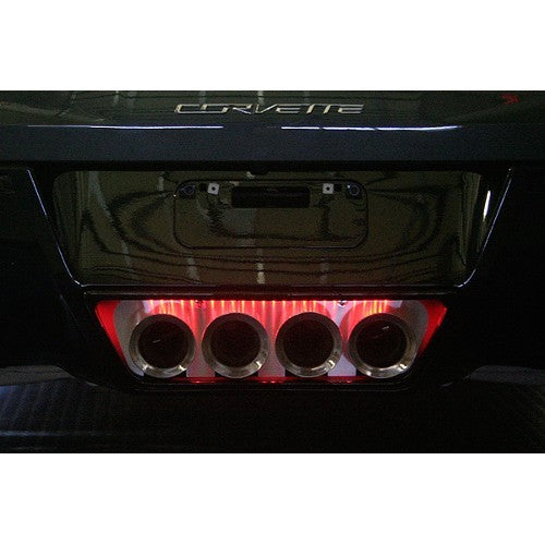 C7 Corvette | Brushed Illuminated | Exhaust Filler Panel - [Corvette Store Online]