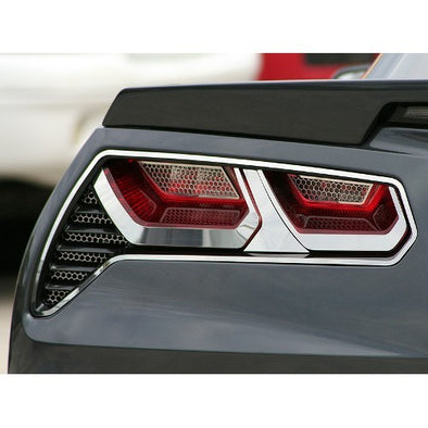 C7 Corvette Stingray | 8Pc Tail Light Trim Kit | Brushed or Polished - [Corvette Store Online]