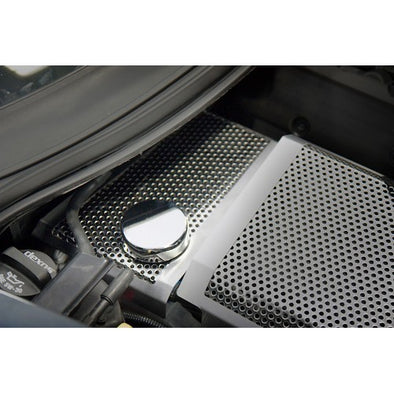 C7 Corvette Stingray | Perforated/Brushed Water Tank Cover - [Corvette Store Online]