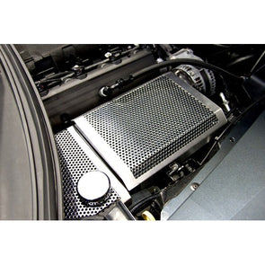 C7 Corvette Stingray | Perforated/Brushed Fuse Box Cover - [Corvette Store Online]