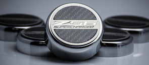 Z06 Corvette 'Z06 SUPERCHARGED' Fluid Cap Cover Set | Carbon Fiberglass