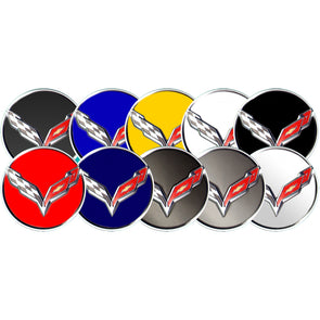 Corvette C7 2014-2019 | Wheel Center Cap-App® Applique - [Corvette Store Online]