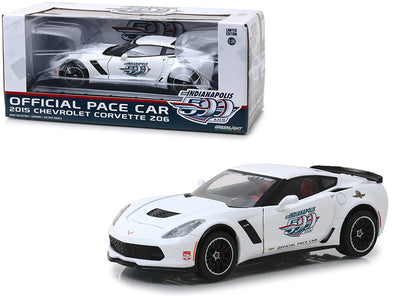 "2015 Chevrolet Corvette Z06 White ""Indianapolis 500"" Official Pace Car 1/24 - [Corvette Store Online]"