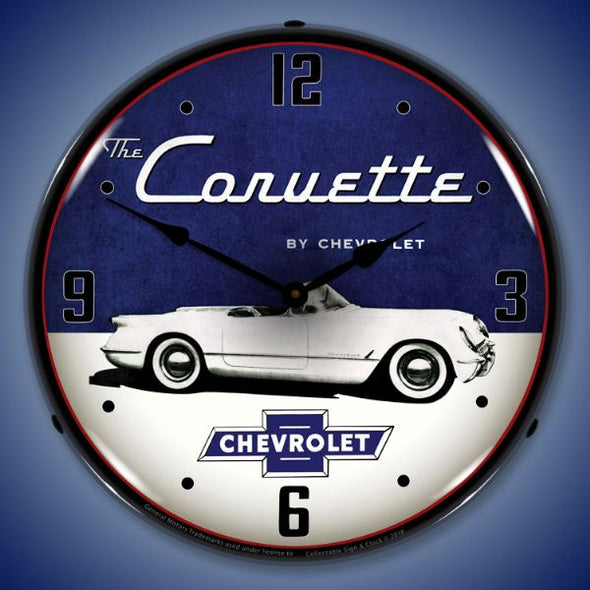 1954 Corvette Lighted Clock Profile - [Corvette Store Online]