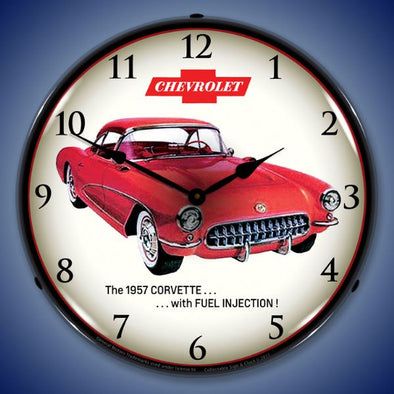 1957 Corvette Fuel Injection Lighted Clock Profile - [Corvette Store Online]