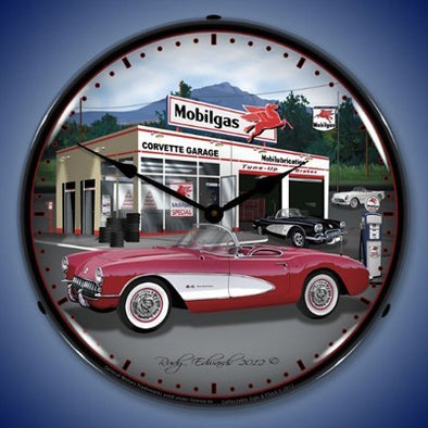 1957 Corvette Lighted Clock Profile - [Corvette Store Online]