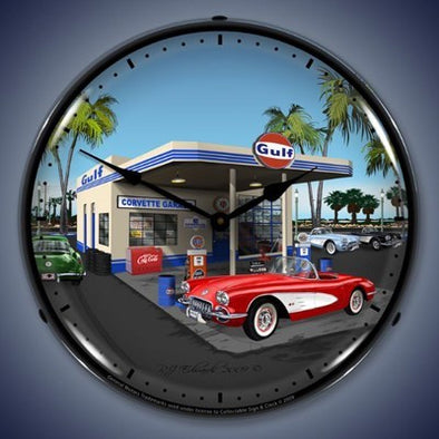 1959 Corvette Lighted Wall Clock - [Corvette Store Online]