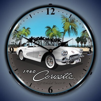1960 Corvette Lighted Wall Clock - [Corvette Store Online]