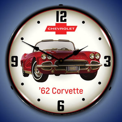 1962 Corvette Lighted Clock Profile - [Corvette Store Online]