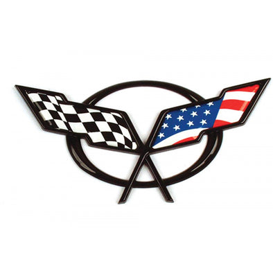 C5 Corvette Flag Emblem Decal | Front Or Rear Overlay | 1997-2004 - [Corvette Store Online]