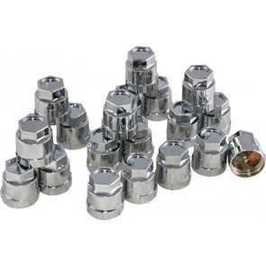 Corvette Lug Nut Cap Set, Plastic, Factory Style, Chrome, 1984-1996 - [Corvette Store Online]