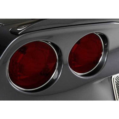C6 Corvette | Taillight Chrome Vinyl Trim Kit | 4 pc | 2005-2013 - [Corvette Store Online]
