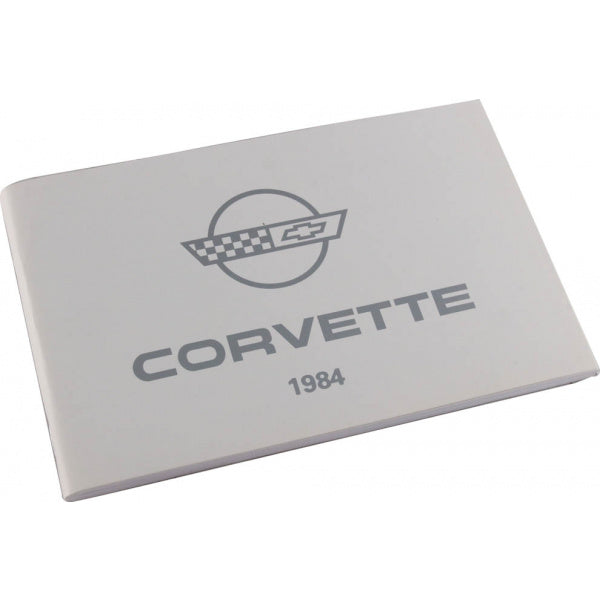 Corvette Owner's Manual 1984 - [Corvette Store Online]