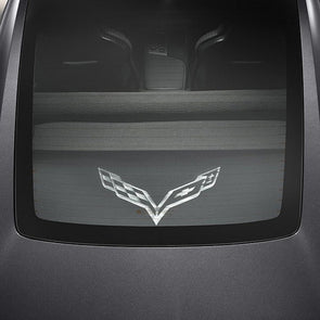 C7 Corvette Cargo Shade, Upper and Lower w/ Logo - [Corvette Store Online]