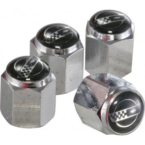 C4 Corvette Logo | Chrome Valve Stem Caps - [Corvette Store Online]
