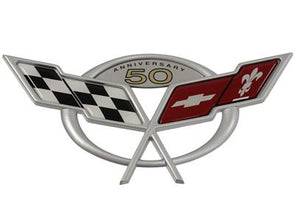 C5 & Z06 Corvette 50th Anniversary Rear Deck Emblem - [Corvette Store Online]